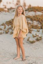 Rylee and Cru Citron Eyelet Beach Kaftan (Sizes 2/3 to 8/9)