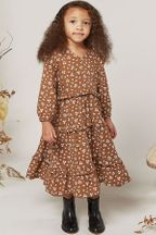 Rylee and Cru Ditsy Mabel Dress in Cinnamon (Size 6/7)