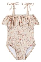 Rylee and Cru Dragonfly Ruffle One Piece with Ties (Sizes 2 to 14)