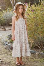 Rylee and Cru Dragonfly Tiered Maxi Dress (Sizes 4 to 14)
