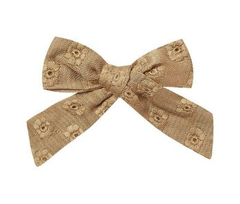 Rylee and Cru Eyelet Girl Bow in Goldenrod