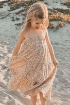 Rylee and Cru Flower Field Tiered Maxi Dress (2/3 to 8/9)