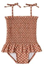 Rylee and Cru Flower Power Smocked Swimsuit