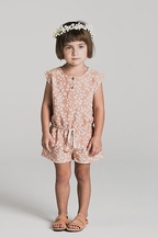 Rylee and Cru Flower Rover Romper (6/7 & 8/9)