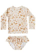 Rylee and Cru Garden Birds Rashguard Set (Sizes 12Mos to 14)