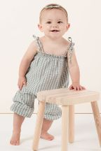 Rylee and Cru Gingham Bubble Jumpsuit (3-6Mos & 6-12Mos)