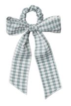 Rylee and Cru Gingham Hair Scarf Tie Scrunchie
