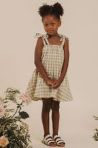 Rylee and Cru Gingham Shoulder Tie Dress (Sizes 4 to 14)