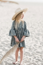 Rylee and Cru Girls Sand Dollar Dress Blue(6/7 & 8/9)
