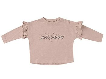 Rylee and Cru Just Believe Ruffle Tee (Sizes 3 Mos to 14)