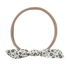 Rylee and Cru Knot Headband Ivory Blue Floral