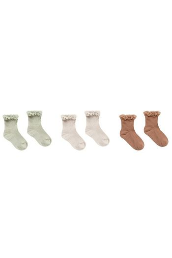 Rylee and  Cru Lace Trim Socks (Sizes 0Mos to 9)
