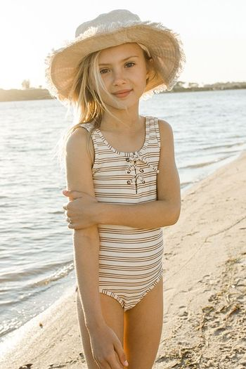 Rylee and Cru Laced Amber One Piece Swim