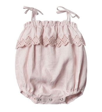 Rylee and Cru Lilac Ruffle Romper (Size 12-18Mos)