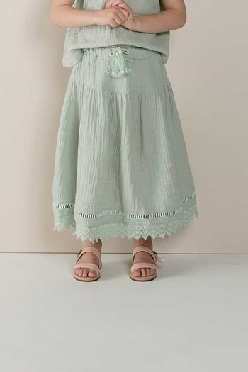 Rylee and Cru Mila Maxi Skirt in Seafoam