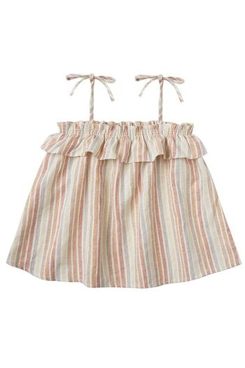 Rylee and Cru Multi Stripe Ruffle Tube Top (Sizes 3Mos to 3)