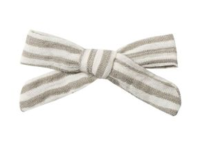 Rylee and Cru Olive Stripe Bow with Clip