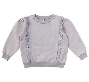 Rylee and Cru Periwinkle Scarlet Pullover (Sizes 3 Mos to 3)