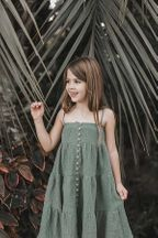 Rylee and Cru Rainforest Tiered Maxi Dress (Size 6/7)