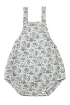 Rylee and Cru Roses Norah Romper Blue (Sizes 0Mos to 3)