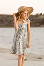 Rylee and Cru Roses Shoulder Tie Dress (Sizes 4 to 12)