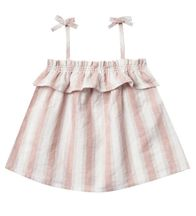 Rylee and Cru Ruffle Tube Top in Petal Stripe (Size 3-6Mos)