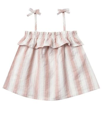 Rylee and Cru Ruffle Tube Top in Petal Stripe (3-6Mos,6-12Mos,12-18Mos)