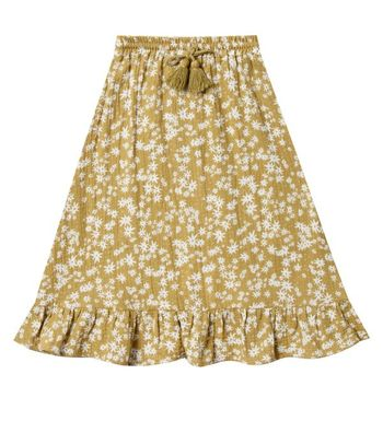 Rylee and Cru Scattered Daisy Ruffle Midi Skirt (Sizes 2/3 to 8/9)