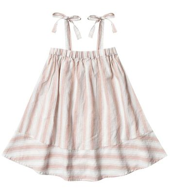 Rylee and Cru Shoulder Tie Dress in Petal Stripe (6/7 & 8/9)