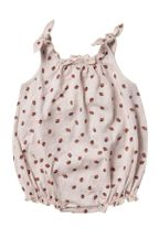 Rylee and Cru Strawberry Shoulder Tie Onesie (Sizes 3Mos to 24Mos)