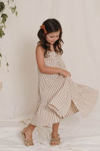 Rylee and Cru Striped Tiered Maxi Dress (Sizes 4 to 14)