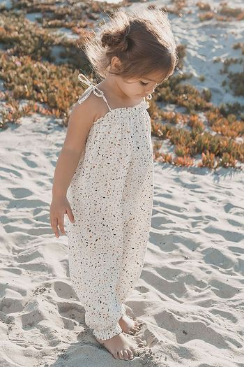 Rylee and Cru Terrazzo Bubble Jumpsuit (Size 0-3Mos)