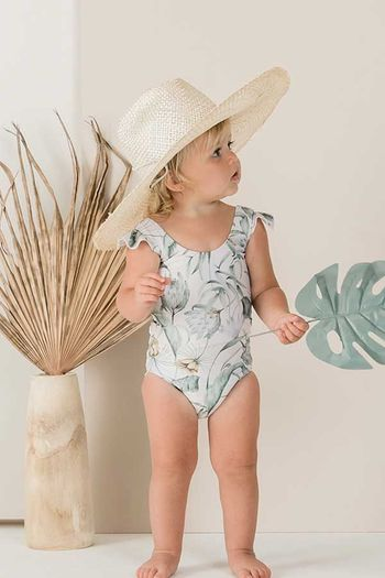 Rylee and Cru Tropical Frill One Piece (Size  8/9)