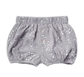 Rylee and Cry Periwinkle Moondust Button Short (Sizes 3Mos to 3)