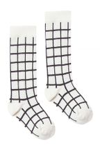 Rylee & Cru Black Check Knee Socks  (0-6Mos,6-12Mos,6-9)