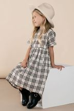Rylee & Cru Check Kat Dress in Black (Size 0 to 8/9)