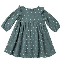 Rylee & Cru Northern Star Piper Dress in Spruce (Size 2/3 to 8/9)