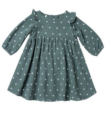 Rylee & Cru Northern Star Piper Dress in Spruce (4/5 & 6/7)