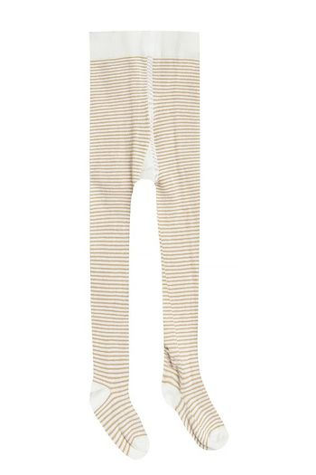 Rylee & Cru Stripe Tights Honey and Ivory  (Size 6-9)