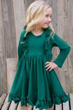 Serendipity Bella Dress Hunter Green (3Mos,6Mos,9Mos,12Mos,18Mos,24Mos,4)