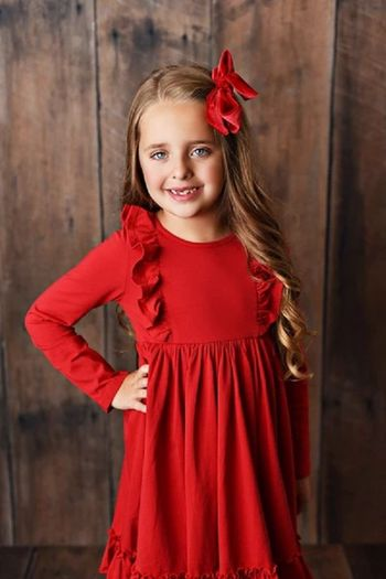 Serendipity Bella Dress in Red (Size 12Mos)
