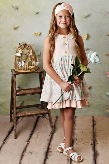 Serendipity Blush Petal Dress with Shortie (Size 2T to 10)