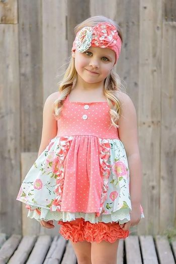 Serendipity Coral Vine Polka Dot Dress with Shorties
