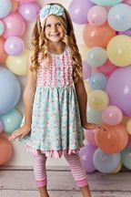Serendipity Cotton Candy Dress with Capri Legging (6Mos & 12Mos)