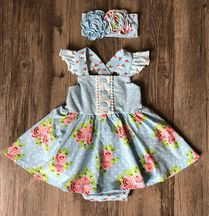 Serendipity Enchanted Meadows Skirted Bubble (NB,3Mos,9Mos)