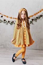 Serendipity Fields Butterscotch Dress with Leggings