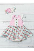 Serendipity French Rose Bubble Dress for Infant (Sizes 6Mos to 24Mos)