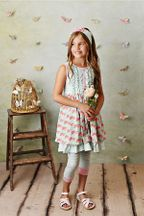 Serendipity French Rose Dress with Capri (2T,4T,4,7)