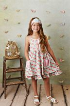 Serendipity French Rose Pocket Dress with Shortie (Size 2T to 10)
