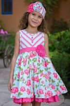 Serendipity Island Floral Stripe Dress Shorties